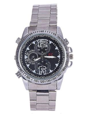 waterproof hd hidden camera wrist watch silver