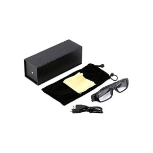 720p hd hidden camera glass eyewear black