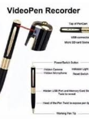 Advance 4gb High Definition Video Camera Pen With 1080p.