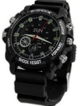 Night Vision Spy Camera Rubber Wristwatch