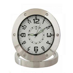 hidden camera analog table clock