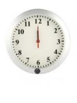 Universal Wall Clock With Hidden Camera